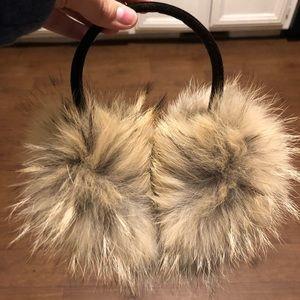 100% coyote fur ear muffs